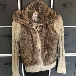 Fur Knitted Sweater